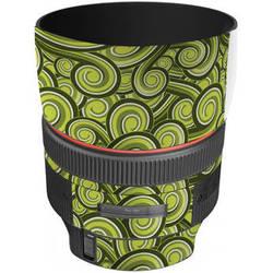LensSkins Lens Skin for the Canon 85mm f/1.2L II EF USM Lens (Green Swirl)