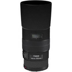 LensSkins Lens Skin for the Canon 100mm f/2.8 Macro IS Lens (Black Carbon Fiber)