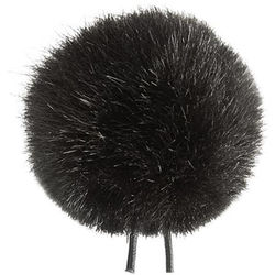 Bubblebee Industries Windbubble Miniature Imitation-Fur Windscreen (Lav Size 3, 40mm, Black)