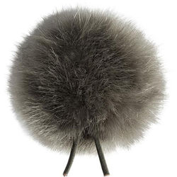 Bubblebee Industries Windbubble Miniature Imitation-Fur Windscreen (Lav Size 4, 42mm, Grey)