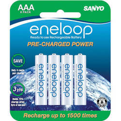 Sanyo Eneloop Rechargeable AAA Ni-MH Batteries (8-Pack)