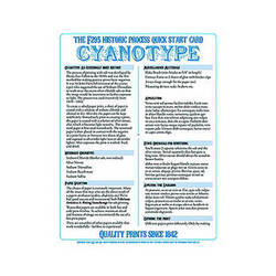 F295 Historic Process Laminated Reference Card for Cyanotype Processing