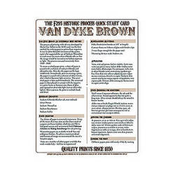 F295 Historic Process Laminated Reference Card for Van Dyke Processing
