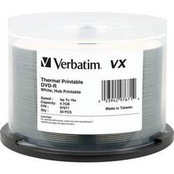 Verbatim DVD-R Thermal Hub Printable Discs (50 Pack)