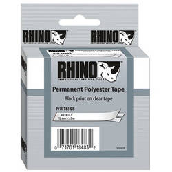 """Dymo Clear Permanent Poly Labels (3/8"""")"""