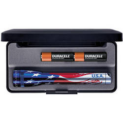 Maglite Mini Maglite 2-Cell AA Flashlight with Presentation Box (Flag)