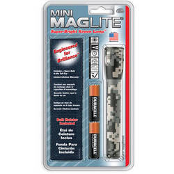 Maglite Mini Maglite 2-Cell AA Flashlight with Holster (Universal Camo)