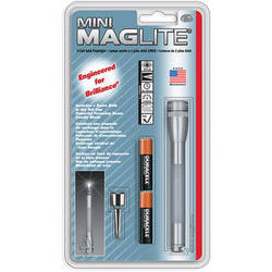 Maglite Mini Maglite 2-Cell AAA Flashlight with Clip (Grey)