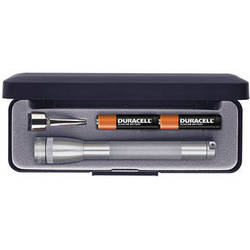 Maglite Mini Maglite 2-Cell AAA Flashlight with Clip and Presentation Box (Grey)