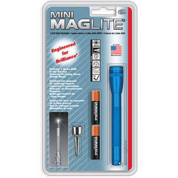 Maglite Mini Maglite 2-Cell AAA Flashlight with Clip (Blue)