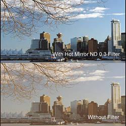 """Cavision 4 x 4"""" Hot Mirror Neutral Density 0.3 Filter"""