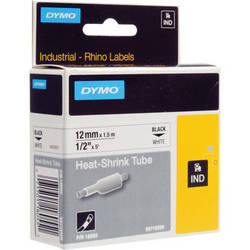 "Dymo White 1/2"" Heat Shrink Tubes"