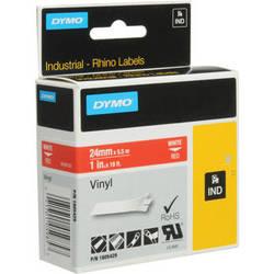 "Dymo Rhino 1.0"" Red Vinyl Labels (White Print)"