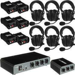 PortaCom COM-60FC 6 Headset Wired Intercom System