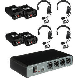 PortaCom COM40FCS 4 Single-Sided Headset Intercom System
