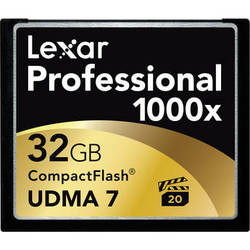 Lexar 32GB CompactFlash Memory Card Professional 1000x UDMA
