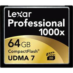 Lexar 64GB CompactFlash Memory Card Professional 1000x UDMA