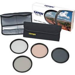 Tiffen 58mm Deluxe Enhancing Kit (Digital Ultra Clear, Enhancing, Circular Polarizing & 812 Color Warming Glass Filters)