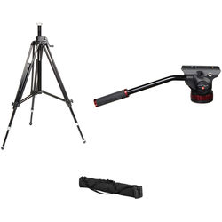 Manfrotto 502AH Video Head, 028B Triman Tripod, and Padded Bag Kit