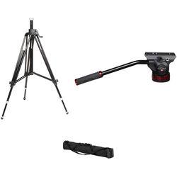 Manfrotto 502HD Pro Video Head & 028B Studio Pro Triman Tripod Kit