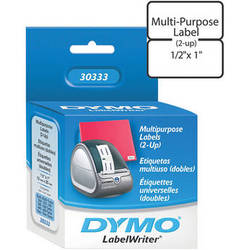 "Dymo LabelWriter Extra Small Multipurpose (2-up) Labels White (1/2 x 1"")"