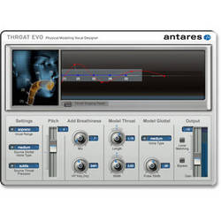 Antares Audio Technologies THROAT Evo - Physical Modeling Vocal Designer (Download)
