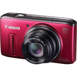 Canon PowerShot SX260 HS Digital Camera (Red)