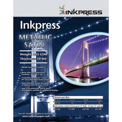"""Inkpress Media Metallic Satin Photo Paper 255 GSM, 24""""x100' Roll"""