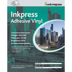 "Inkpress Media Adhesive Vinyl 350 GSM 17""x60' Roll"