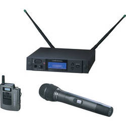 Audio-Technica 4000 Series AEW-4313aC UHF Wireless Body Pack & Handheld Cardioid Condenser Microphone System (Band C)