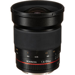 Rokinon 24mm f/1.4 ED AS UMC Wide-Angle Lens for Canon