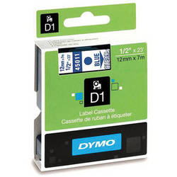"Dymo Standard D1 Labels (Blue Print, Clear Tape - 1/2"" x 23')"