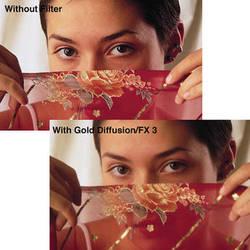 "Tiffen 4 x 4"" Gold Diffusion/FX 1/4 Filter"