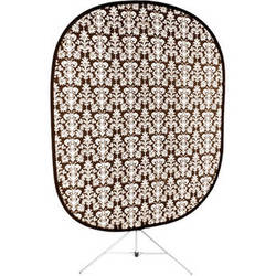 Savage RCB200-KIT Accent Retro Collapsible Background with Stand (5 x 6', Antique Black)
