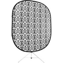 Savage RCB204-KIT Accent Retro Collapsible Background with Stand (5 x 6', Black White)