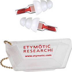 Etymotic Research ETYPlugs High-Fidelity Earplugs (Large, Red)