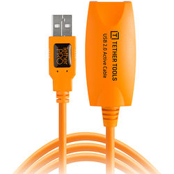 Tether Tools TetherPro USB 2.0 Active Extension Cable (16', Orange)