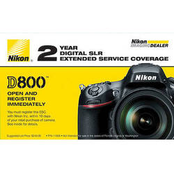 Nikon 2-Year Extended Service Coverage (ESC) for Nikon D800, D800E & D810 Digital Cameras