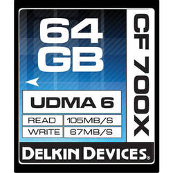 Delkin Devices 64GB CompactFlash Memory Card 700x UDMA