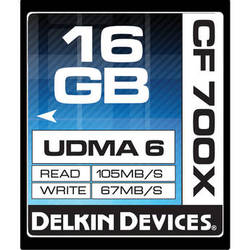 Delkin Devices 16GB CompactFlash Memory Card 700x UDMA