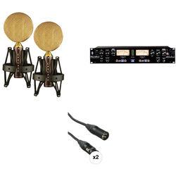 Cascade Microphones Fat Head Ribbon Microphone Pair & ART Pro MPAII Kit