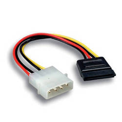 Comprehensive Serial ATA Power Adapter 5.25 Male to SATA Power Cable