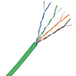 Comprehensive Cat 6 500 MHz UTP Solid Cable (1000', Green)