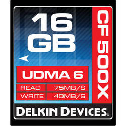 Delkin Devices 16GB CompactFlash Memory Card 500x UDMA