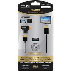 PNY Technologies 3-in-1 12' Smart Active HDMI Cable Kit