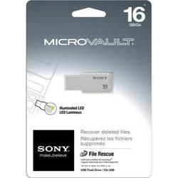 Sony 16GB Micro Vault USM-M USB Flash Drive (White)