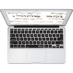 KB Covers Hebrew Keyboard Cover for MacBook Air 11-inch (Unibody, Black Keys)