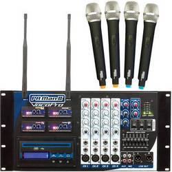 VocoPro PA-MAN II-4 Four-Channel Wireless All-In-One PA System