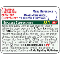 PhotoBert CheatSheet for the Canon EOS 5D Mark III DSLR Camera