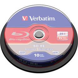 Verbatim Re-Writable Blu-ray Discs (25GB, 10-Pack)